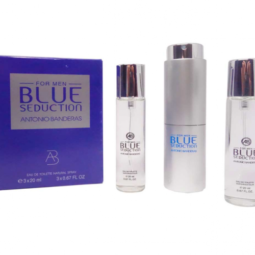 3x20ml Antonio Banderas Blue Seduction For Men